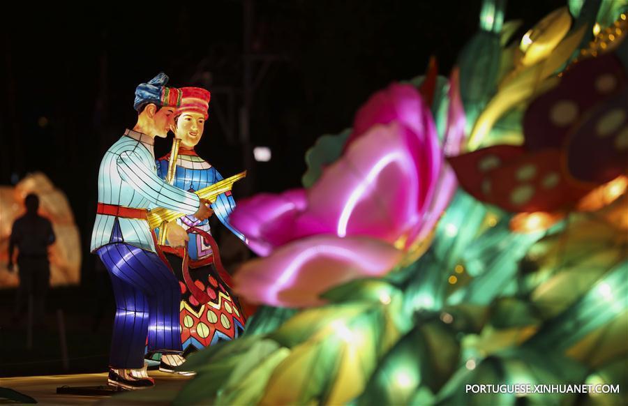 (晚报)(2)云南:夏日纳凉 湖畔赏灯