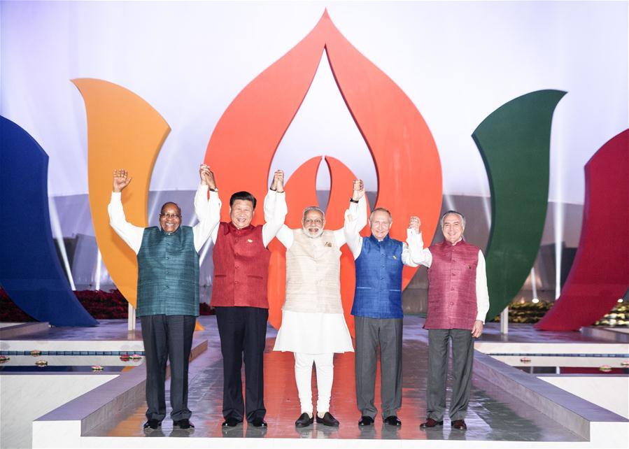 (XINHUAINSIGHT)INDIA-GOA-BRICS LEADERS-INFORMAL DINNER