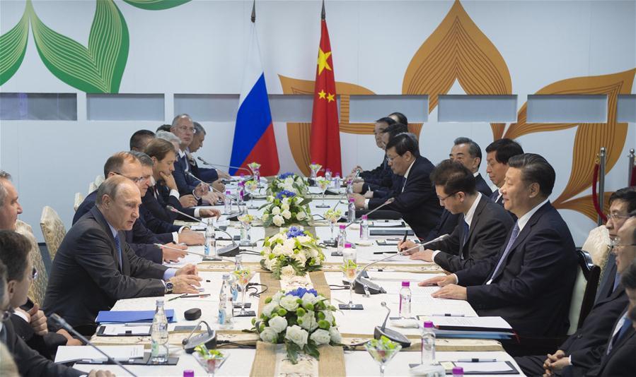 INDIA-GOA-CHINA-RUSSIA-XI JINPING-PUTIN-MEETING