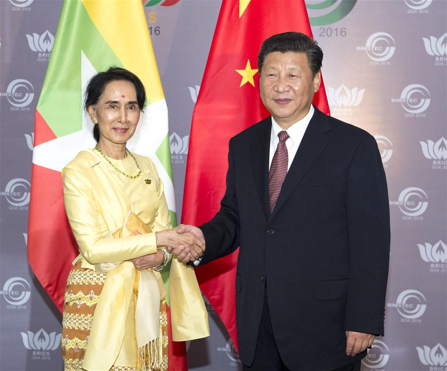 (時政)習近平會見緬甸國務資政昂山素季
