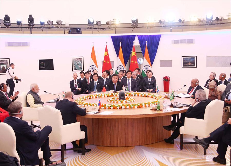 INDIA-GOA-CHINA-BRICS SUMMIT-XI JINPING-SPEECH