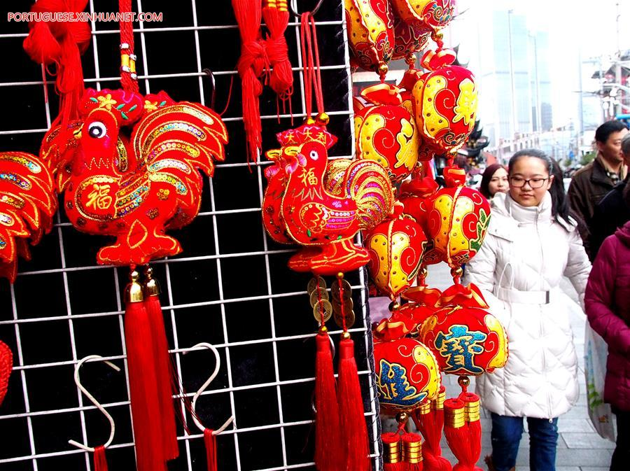 CHINA-SHANGHAI-SPRING FESTIVAL-DECORATIONS (CN)