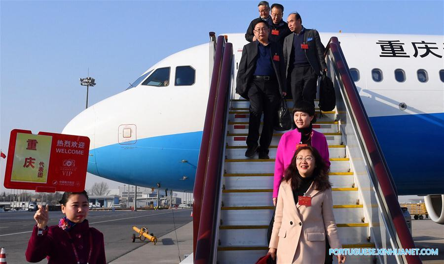 (TWO SESSIONS)CHINA-BEIJING-NPC DEPUTIES-ARRIVAL (CN)