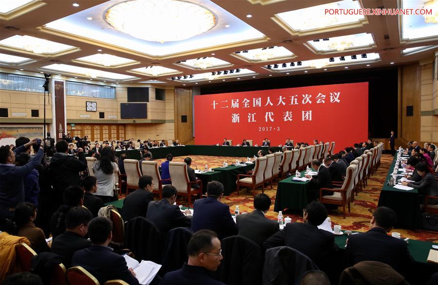 (TWO SESSIONS) CHINA-BEIJING-NPC-ZHEJIANG DELEGATION-PLENARY MEETING-OPEN (CN)