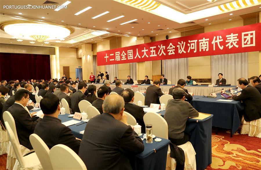 (TWO SESSIONS) CHINA-BEIJING-NPC-HENAN DELEGATION-PLENARY MEETING-OPEN (CN)