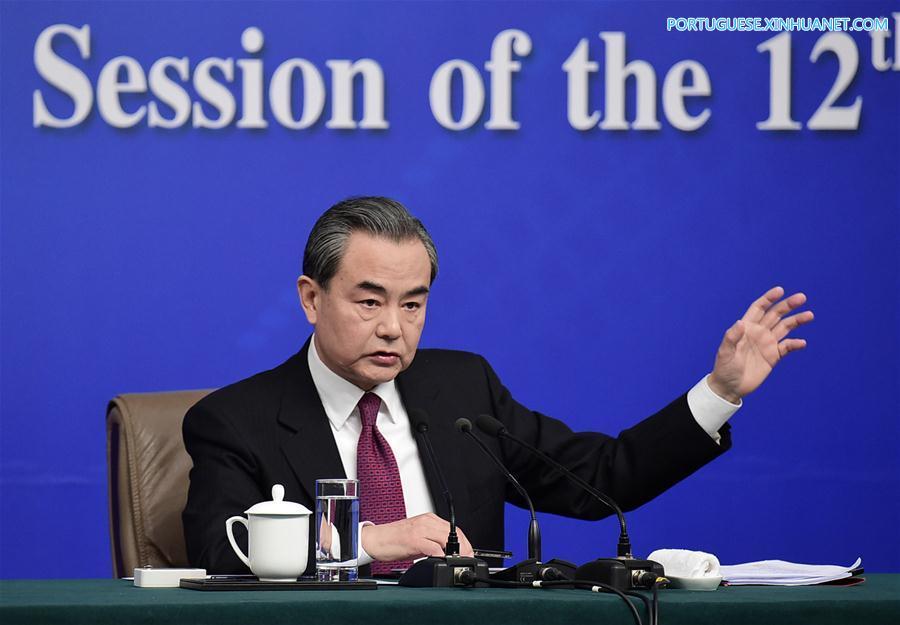 (TWO SESSIONS)CHINA-BEIJING-NPC-PRESS CONFERENCE-WANG YI (CN)