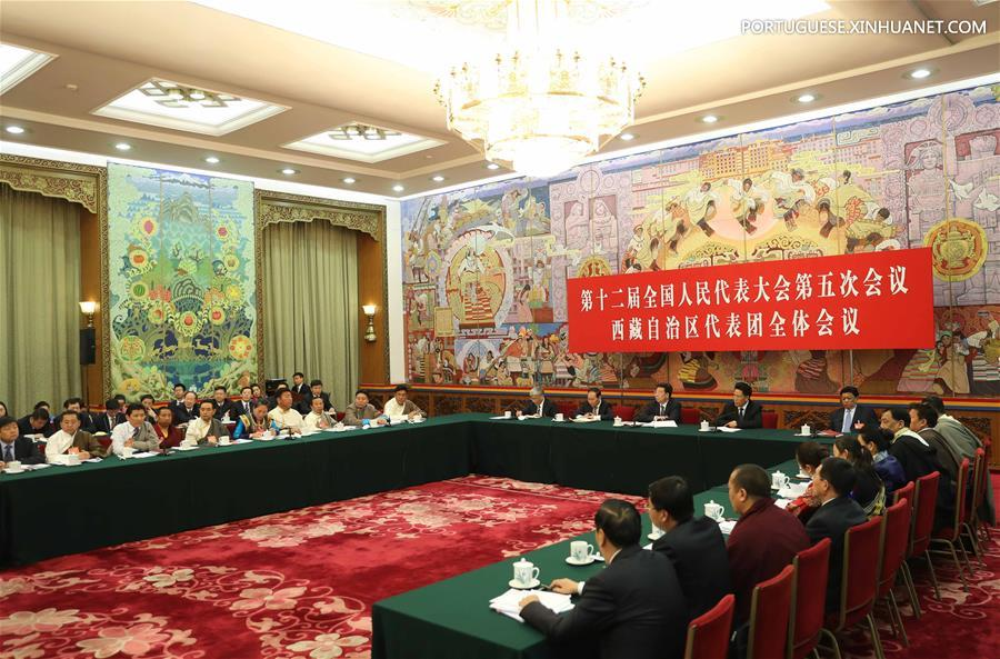 (TWO SESSIONS)CHINA-BEIJING-NPC-TIBET DELEGATION-PLENARY MEETING-OPEN (CN)