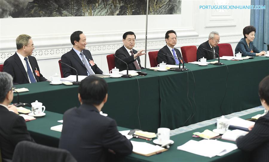 (TWO SESSIONS)CHINA-BEIJING-ZHANG DEJIANG-NPC-PANEL DISCUSSION (CN)