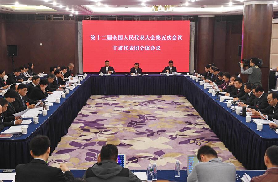 (TWO SESSIONS)CHINA-BEIJING-NPC-GANSU DELEGATION-PLENARY MEETING-OPEN (CN)