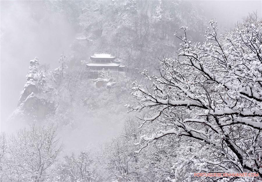 CHINA-GANSU-KONGTONG MOUNTAIN-SNOW SCENERY(CN)