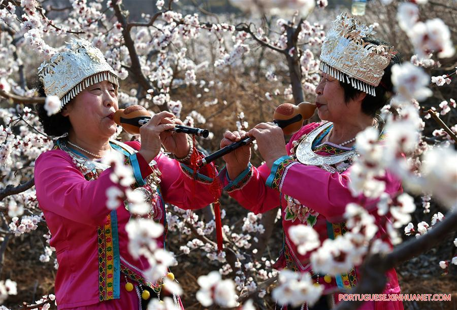 CHINA-SHANXI-YUNCHENG-SPRING SCENERY(CN)