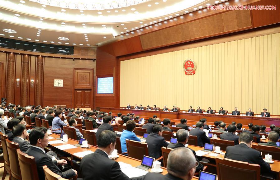 (TWO SESSIONS)CHINA-BEIJING-NPC-PRESIDIUM-MEETING (CN)