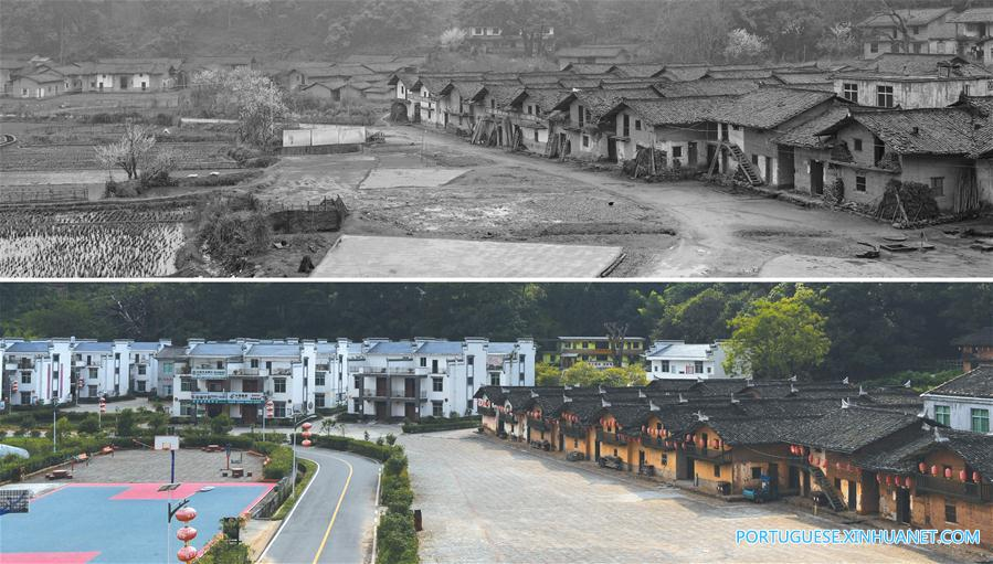 CHINA-JIANGXI-VILLAGE-BEFORE AND AFTER-POVERTY ALLEVIATION (CN)