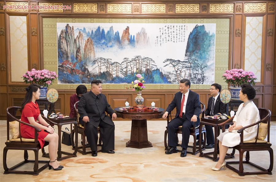 CHINA-BEIJING-XI JINPING-DPRK-KIM JONG UN-MEETING (CN)