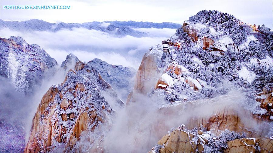 CHINA-SHAANXI-MOUNT HUASHAN-SNOW SCENERY (CN)