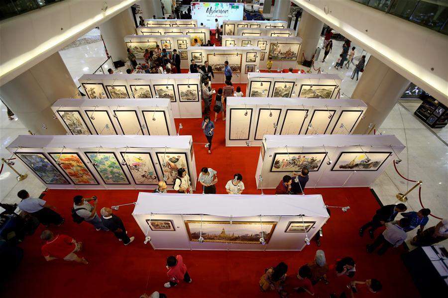 MYANMAR-YANGON-CHINA-ART EXHIBITION