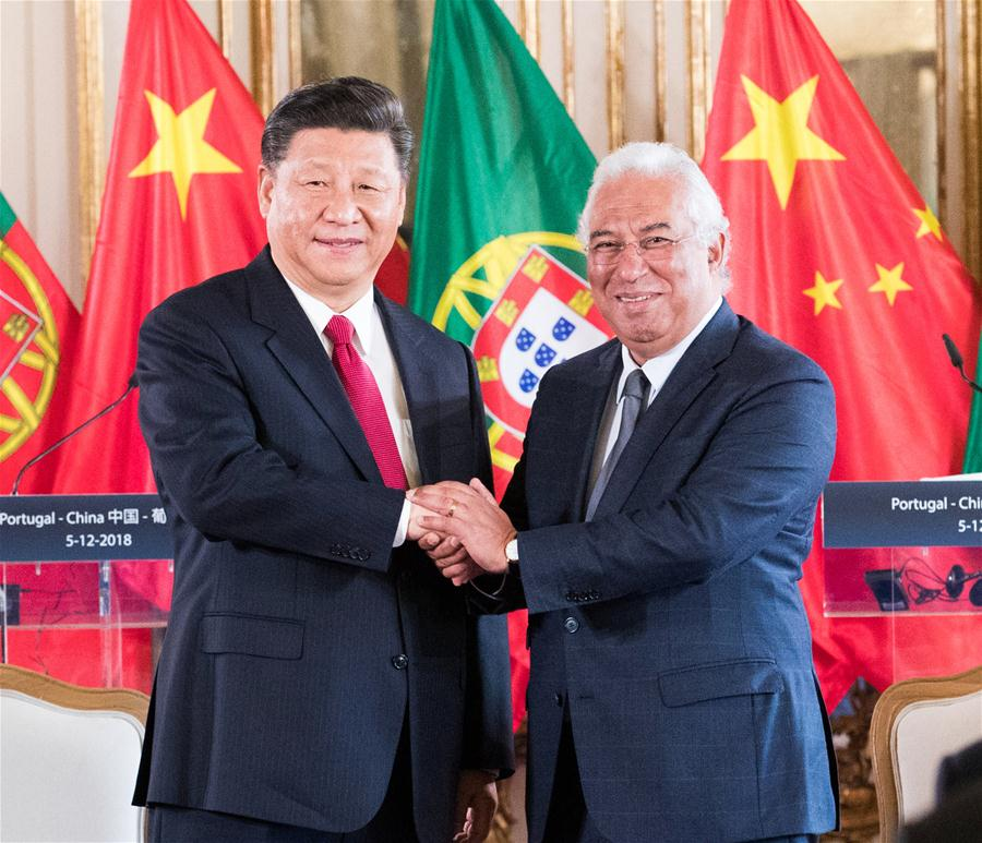 PORTUGAL-LISBON-CHINA-XI JINPING-ANTONIO COSTA-MEETING