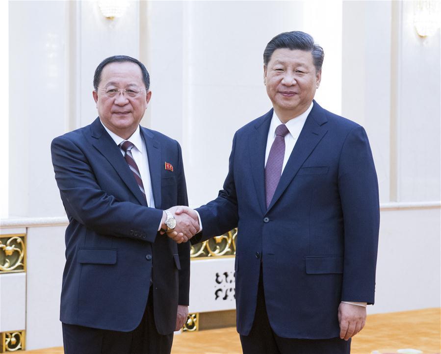 CHINA-BEIJING-XI JINPING-DPRK FM-MEETING (CN)