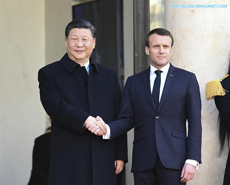 FRANCE-PARIS-CHINA-XI JINPING-MACRON-TALKS
