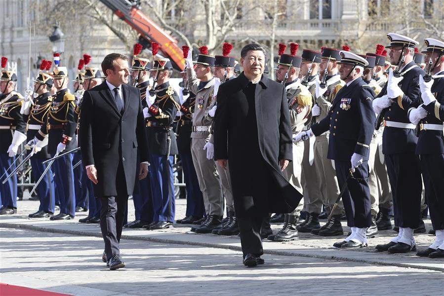 FRANCE-PARIS-CHINA-XI JINPING-MACRON-TALKS