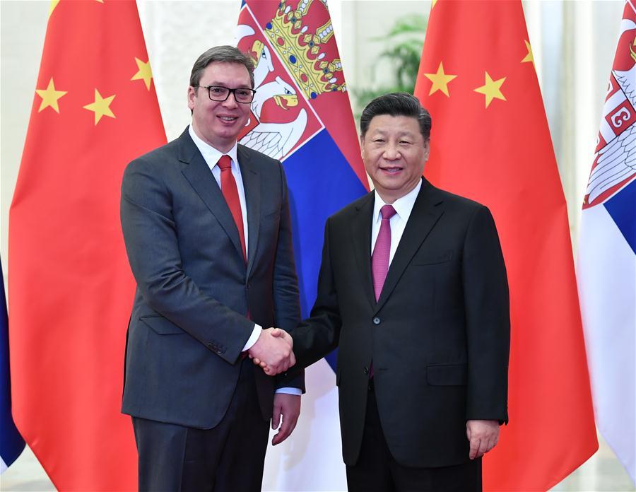 (BRF)CHINA-BEIJING-XI JINPING-SERBIAN PRESIDENT-MEETING (CN)