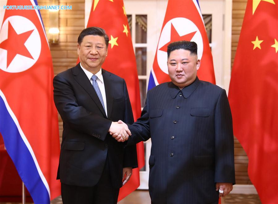 DPRK-PYONGYANG-CHINA-XI JINPING-KIM JONG UN-TALKS