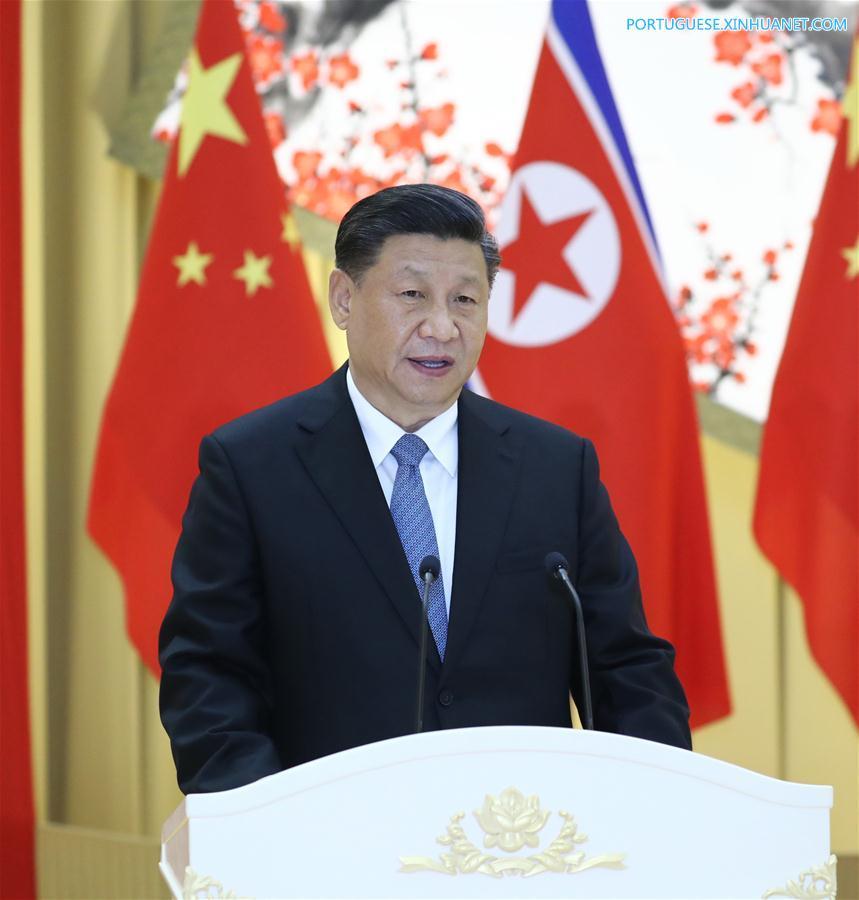 DPRK-PYONGYANG-CHINA-XI JINPING-STATE VISIT-KIM JONG UN-WELCOME BANQUET