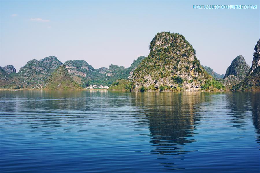 CHINA-GUANGXI-JINGXI-QUYANG LAKE-SCENERY (CN)