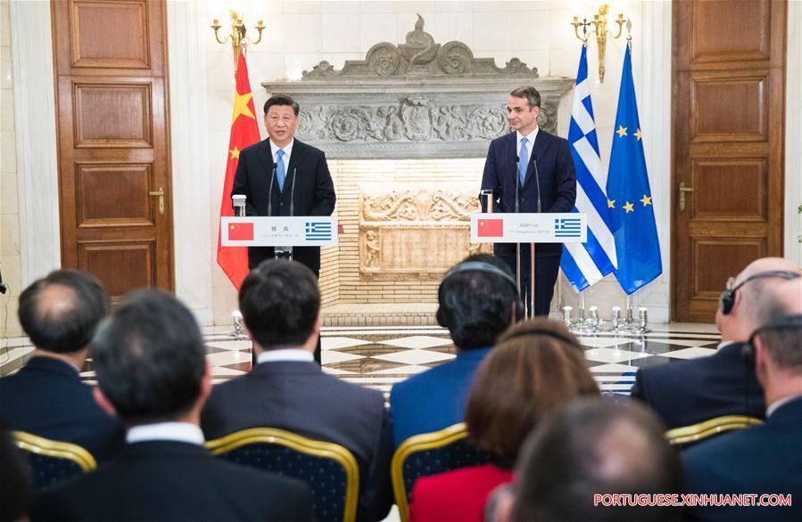 GREECE-ATHENS-XI JINPING-GREEK PM-TALKS