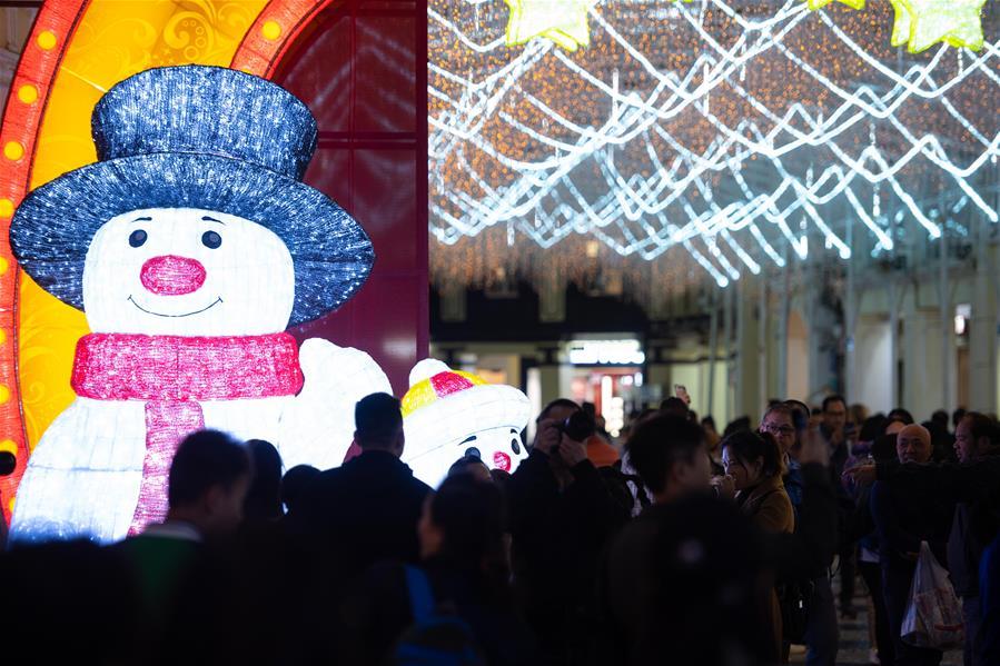 CHINA-MACAO-SENADO SQUARE-FESTIVE LIGHTS-CHRISTMAS-NEW YEAR (CN)