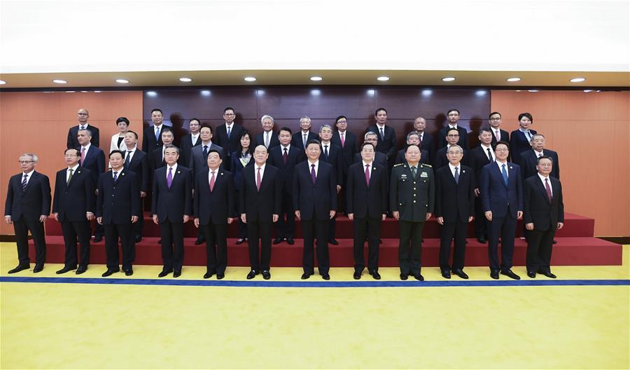CHINA-MACAO-XI JINPING-GOVERNMENT-OFFICIALS-MEETING (CN)