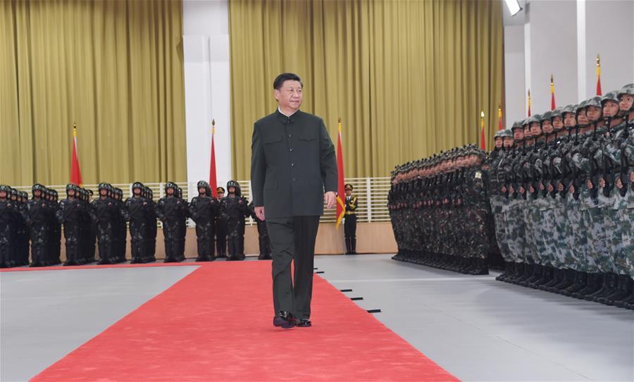 CHINA-MACAO-XI JINPING-PLA GARRISON-INSPECTION (CN)