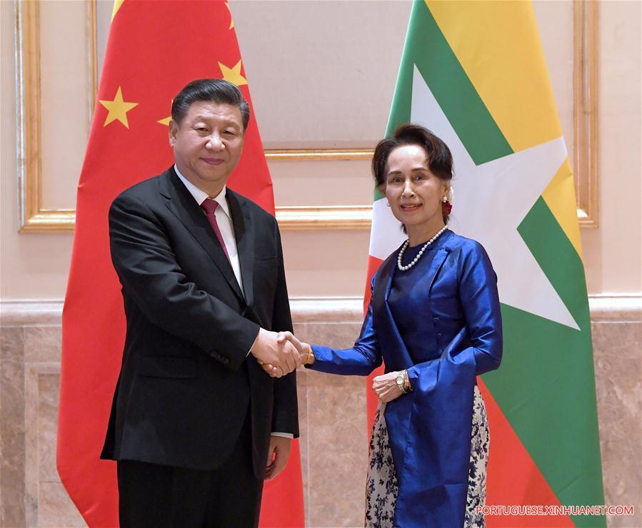 MYANMAR-NAY PYI TAW-CHINA-XI JINPING-STATE COUNSELLOR-MEETING