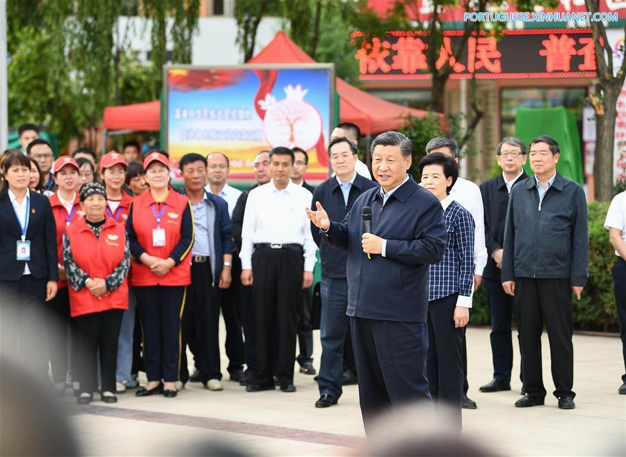 CHINA-NINGXIA-XI JINPING-INSPECCION