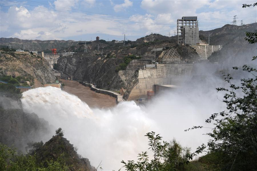CHINA-GANSU-YELLOW RIVER-RESERVOIRS-FLOOD DISCHARGE (CN)