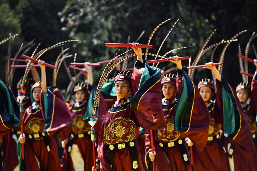 CHINA-SHANDONG-QUFU-CONFUCIUS-BIRTHDAY-CEREMONY (CN)