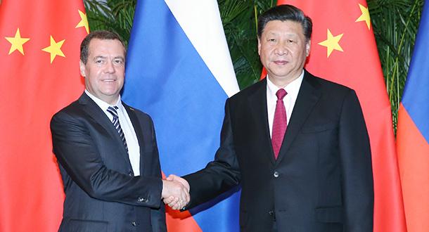 Xi reúne-se com primeiro-ministro russo