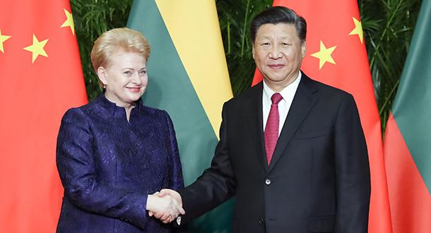 Xi reúne-se com presidente da Lituânia