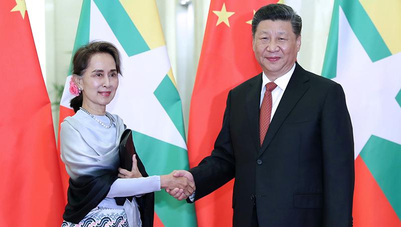 (Cinturão e Rota) Xi se reúne com conselheira de Estado de Mianmar Aung San Suu Kyi