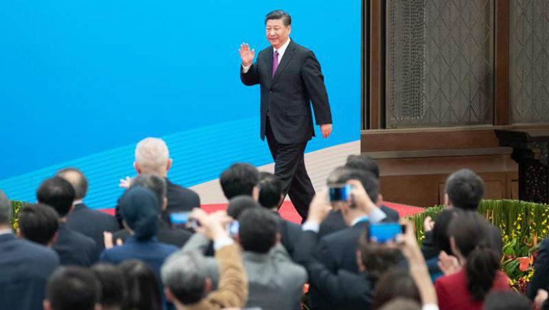 (Cinturão e Rota) Xi reúne-se com a imprensa no fim do segundo fórum do Cinturão e Rota