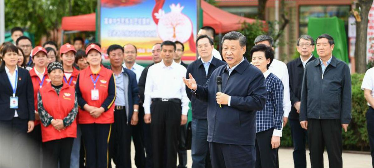 Xi inspeciona Ningxia, no noroeste da China