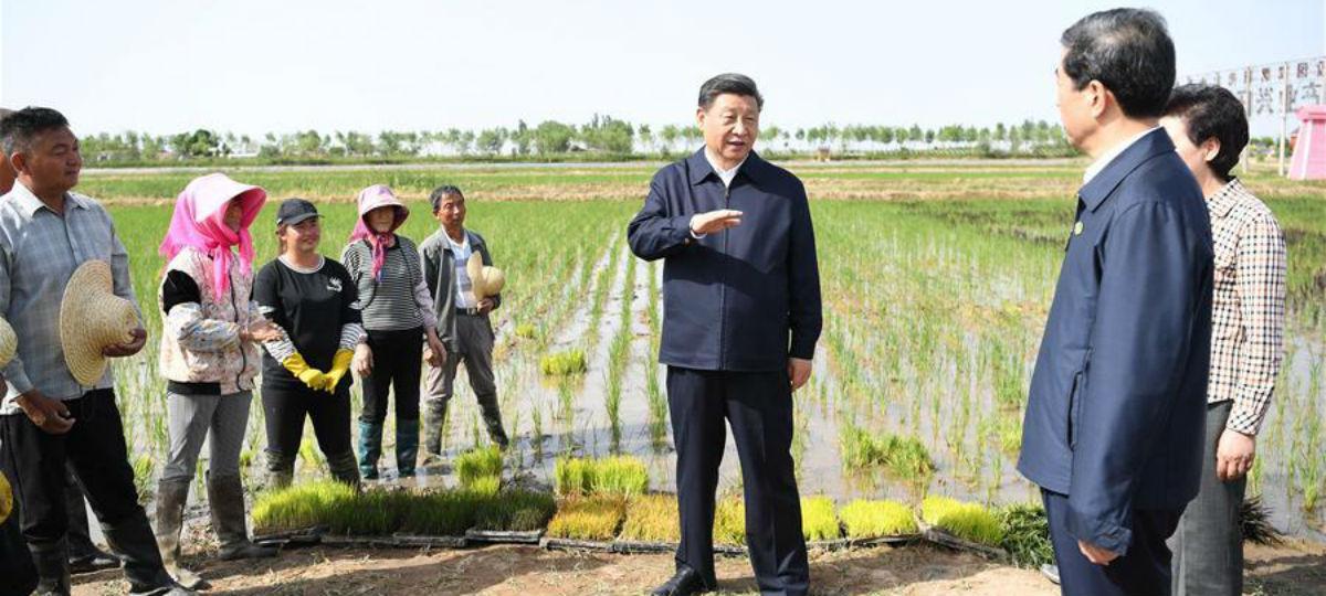 Xi inspeciona Yinchuan