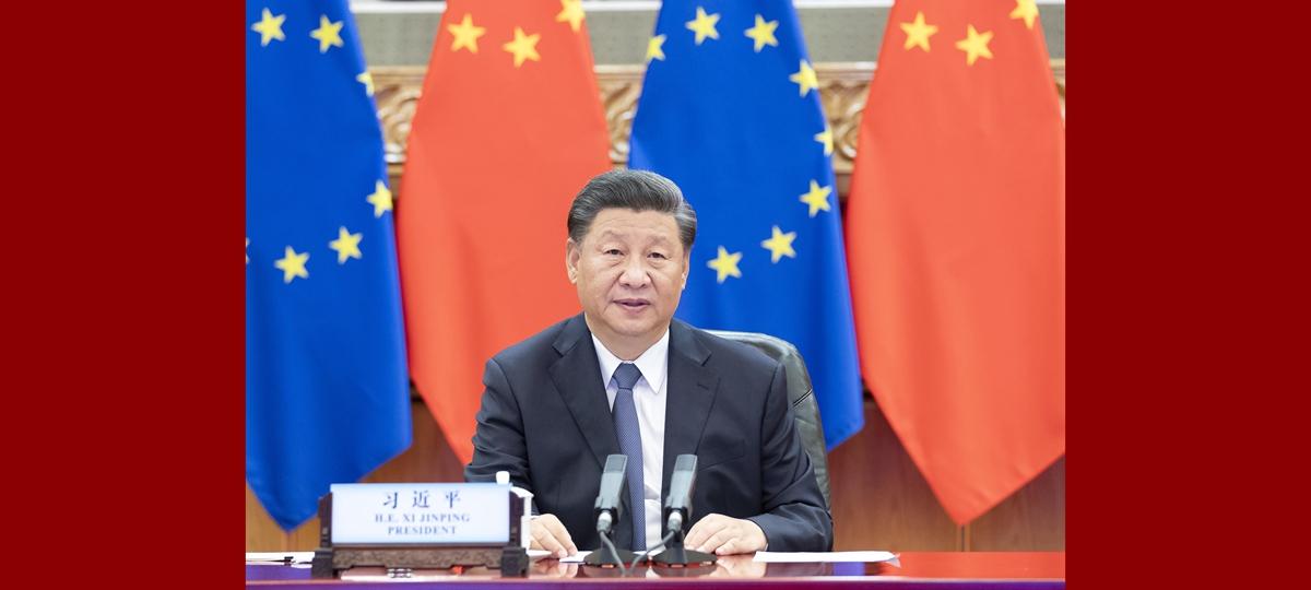 Xi se reúne com líderes da Alemanha e da UE via link de vídeo