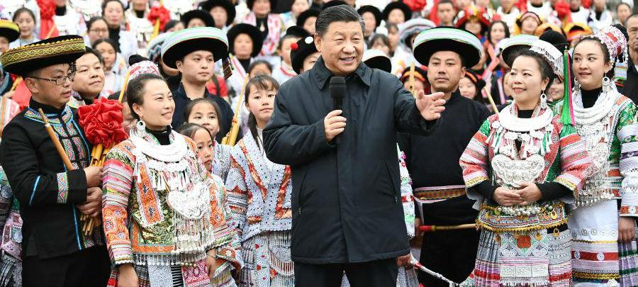 Xi inspeciona Guizhou antes do Ano Novo Chinês