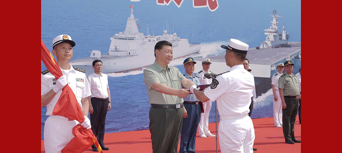 Xi participa da inauguração de serviço de navios da marinha chinesa