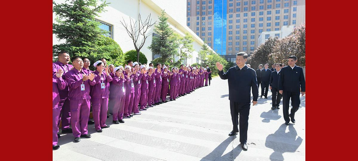 Xi inspeciona Qinghai, no noroeste da China