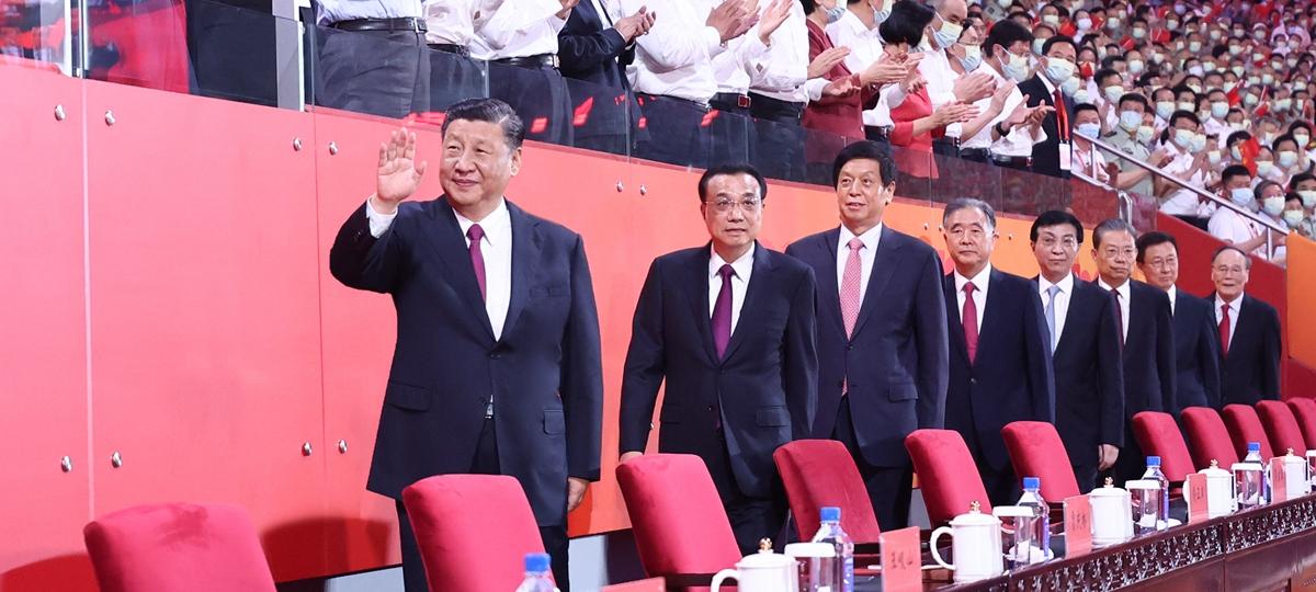 China realiza performance artística para celebrar o centenário do PCC