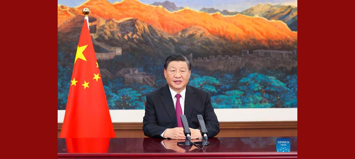 Xi faz discurso na Feira Internacional de Comércio de Serviços da China