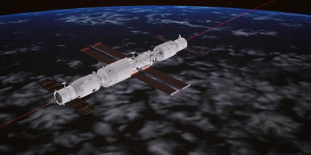 Espaçonave de carga da China se acopla ao módulo central da estação espacial