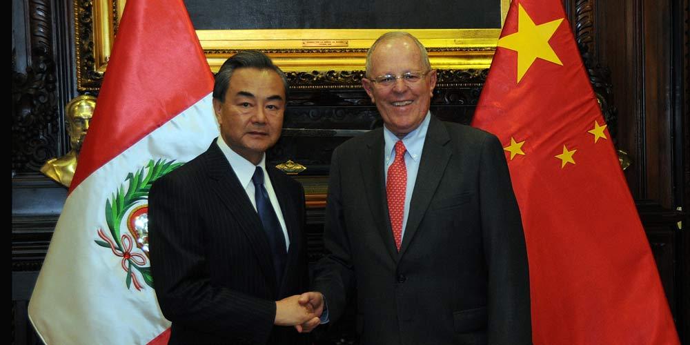 Chanceler chinês se reúne com presidente peruano para tratar de relações bilaterais  e livre comércio